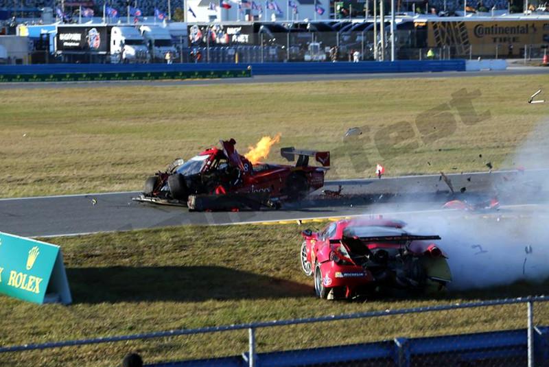 # 99 - 2014 USCR - Gainsco Corvette Memo Gidley hits Ferrari at Daytona - 03