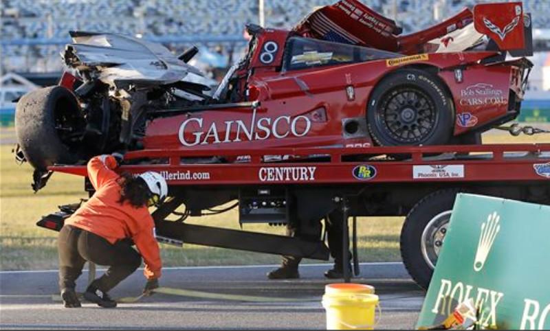 # 99 - 2014 USCR - Gainsco Corvette Memo Gidley hits Ferrari at Daytona - 06