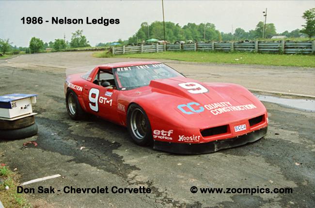 # 9 - 1986 GT1 - Don Sak at Nelsons Ledges, ex-DeAtley