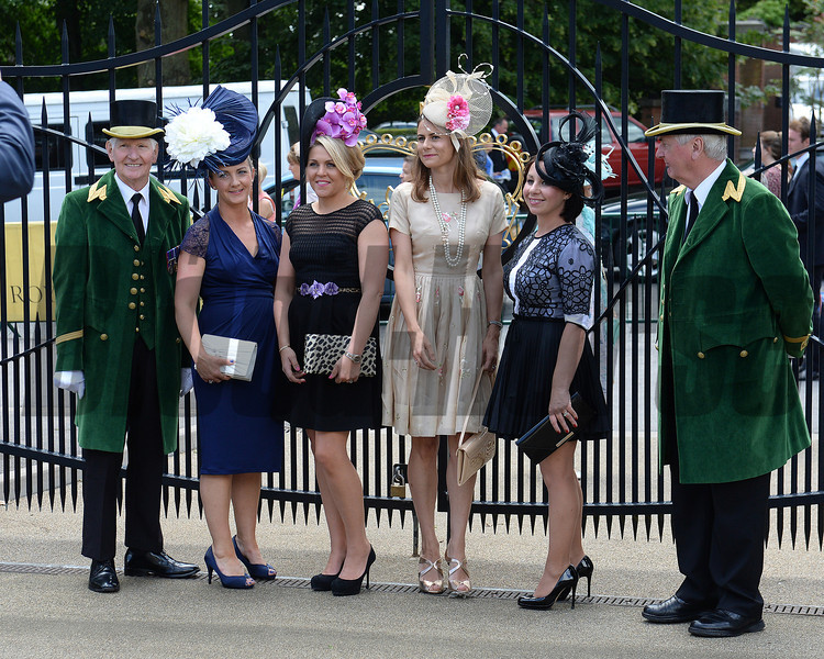 Fashion and scenes, Royal Ascot, Ascot Race Course, England, 6/18/14 photo by Mathea Kelley