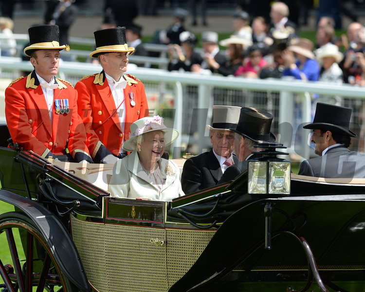 The queen arriving at, Royal Ascot, Ascot Race Course, England, 6/18/14 photo by Mathea Kelley