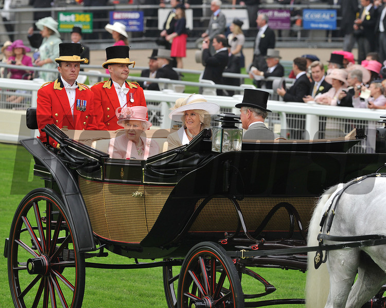 The queen arriving at ascot by carriage, Royal Ascot; UK, photo by Mathea Kelley 6/18/13