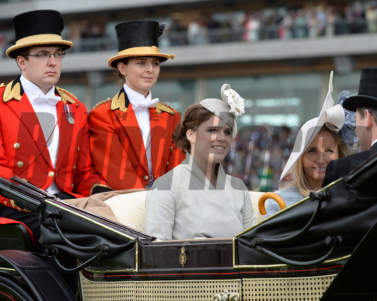 Princess Eugenie arrives at Royal Ascot,  Fashion and scenes, Royal Ascot, Ascot Race Course, England, 6/19/14 photo by Mathea Kelley