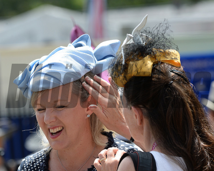 Fashion and scenes, Royal Ascot, Ascot Race Course, England, 6/20/14 photo by Mathea Kelley, The paddock