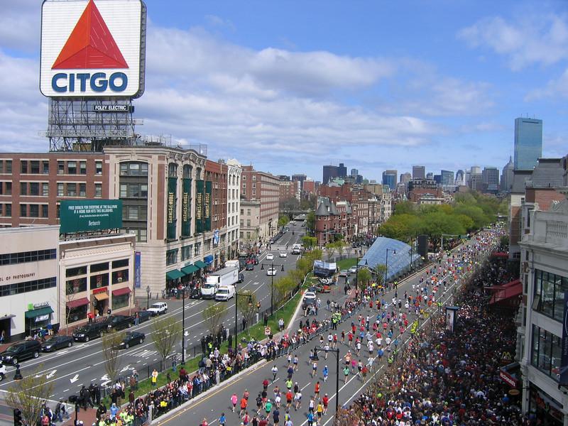 2010 Boston Marathon - viewed from the Buckminster Hotel