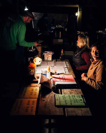 Race Check-in the night before