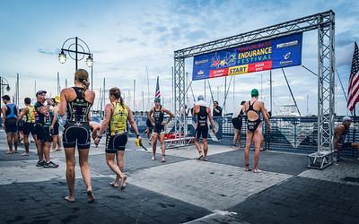 Swim Start at the New Orleans Endurance Foundation Festival