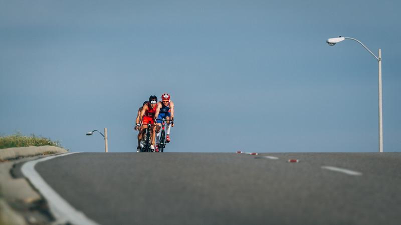 Lead pack of men during  the 2016 USA Triathlon Draft-Legal Sprint Duathlon Qualifier