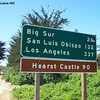 Monday, April 26th, 2004 - we hobble out of bed, pack our suitcases, and head south to Big Sur.  We stop to take a picture of the sign that inspired the Big Sur Marathon.
