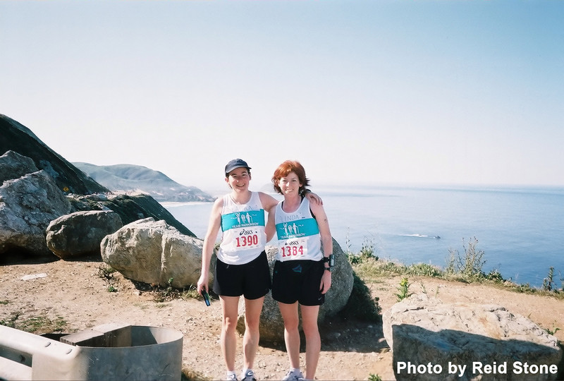 Laura and Linda, at the top of Hurricane Point, stop to take in the view!
