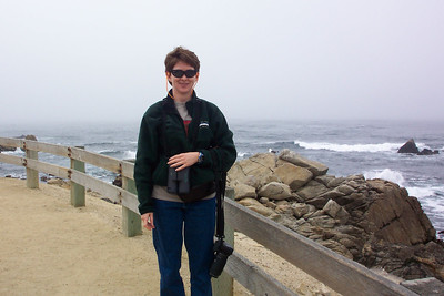The fog, wind, and cool temperatures rolled in on the coast of Pebble Beach.