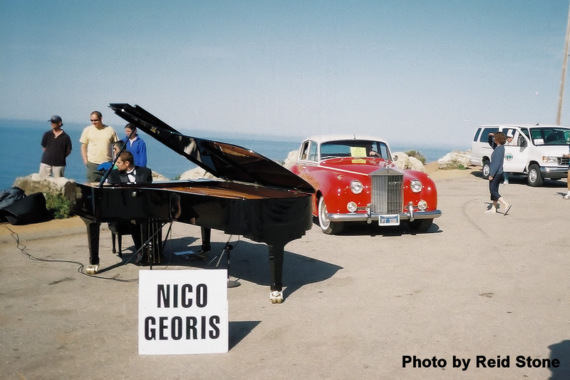 At the far end of Bixby Bridge we are treated to a piano concert.