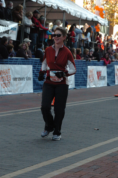 Patti approaches the finish line.