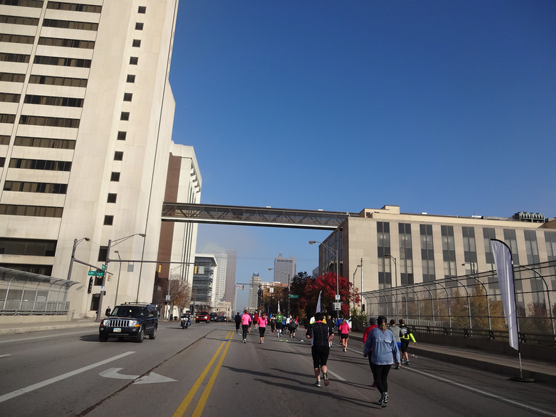 This is practically the only hill in the Columbus Half-Marathon, but it's a tough one, and it's the final push to the finish line.