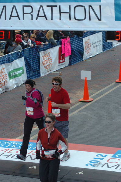 Patti at the finish line!