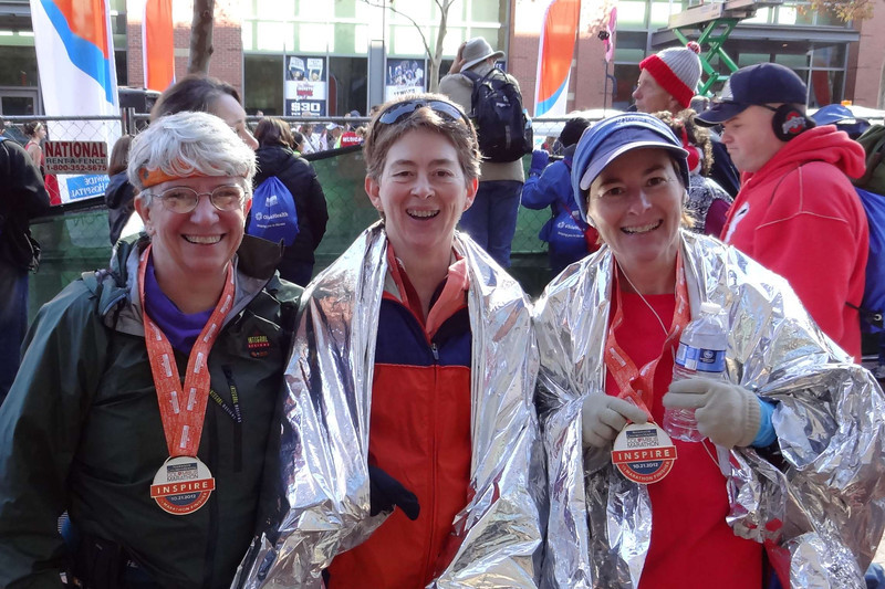 The three tired, but happy finishers.
