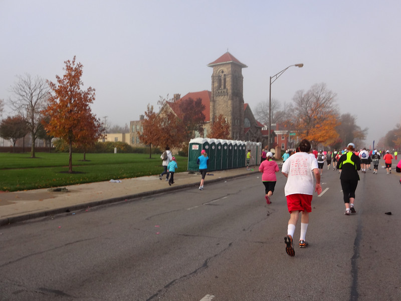 Runners can find succor of both varieties here...the spiritual, and the porta-potties.