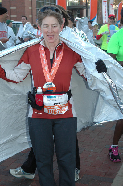 Patti shows off her medal.