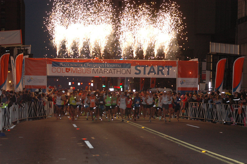 This is the official photo of the race start.  Patti and Jeane could not see any part of this from the F corral.