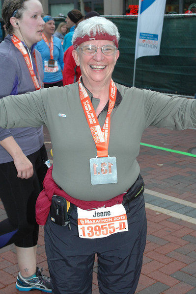 Jeane is newly bedecked with a medal.