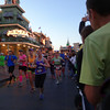 And there's Laura coming toward us in the lime green shirt...still too dark for a good action photo.