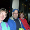 Being nervous on the bus taking us to the start of the half-marathon...