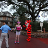 There were lots of characters on the course, like Tigger!