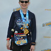 The official finisher photo...Patti and Donald Duck.