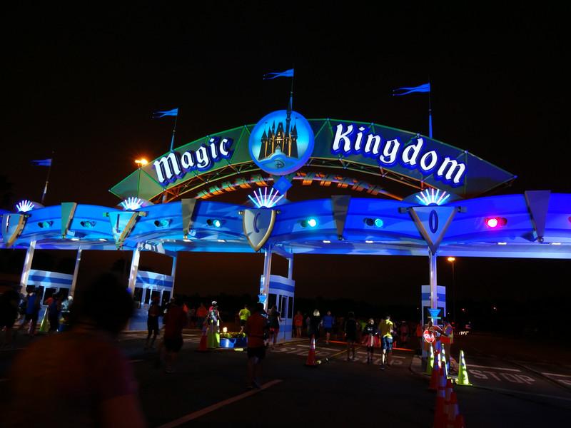 It's still dark as Patti approaches the Magic Kingdom.