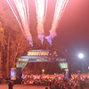 The fireworks at the start of the marathon