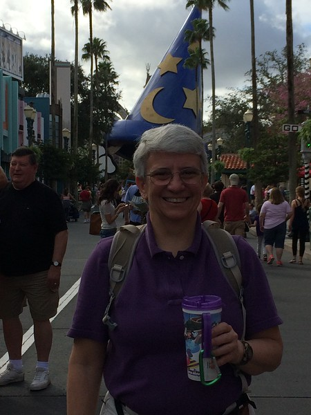 Jeane in Hollywood Studios while we wait for Laura and Lane to join us.