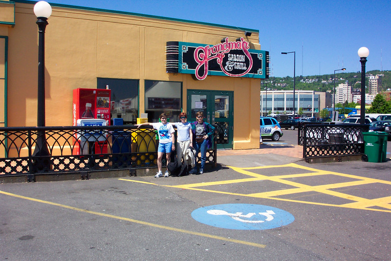 Grandma's Saloon & Grill is the original sponsor of Grandma's Marathon.  We decide it only makes sense to have lunch there.