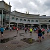The race goes into Churchill Downs, a nice treat for out-of-town runners.  We didn't see any horses running today; perhaps it was too sloppy.