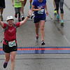 Patti crosses the finish line!