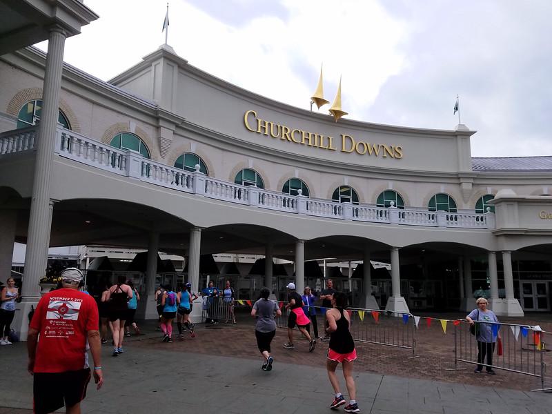 Entering Churchill Downs