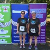 We both win age group awards in the Powered with Pride 5K in Cherokee Park.  June, 2014