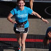 Laura reaches the finish line much earlier than Patti and Jeane.