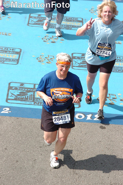 Jeane reaches the finish line