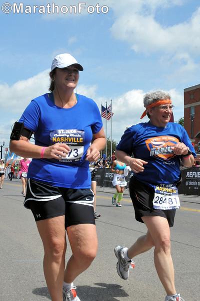 Jeane making her final push toward the finish line.