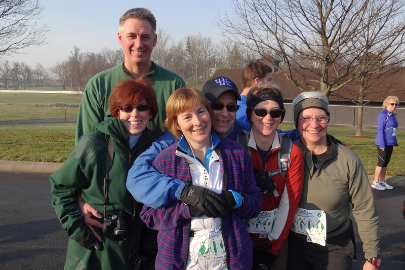 The whole family is participating this year -- three walkers and three runners.