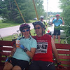 Laura and Lane resting up after having eaten way too much pie at the second SAG stop.