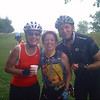 We meet the Super Bikers at the first SAG stop...Linda is with her friends Marla and John.