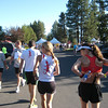 Red Lizards lining up for the 1/2 marathon