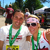 Jay & Caroline post-race