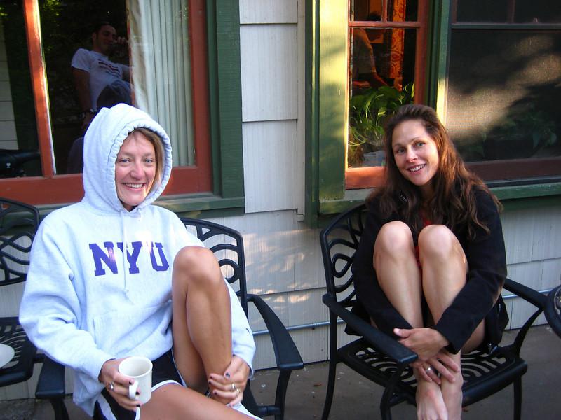 Caroline and Christy pre-race