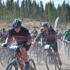 Aidan Miliff (Boulder HS) digs deep at the start of the Junior Varsity Boys race.