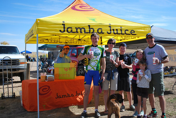 There's nothing like a cold Jamba Juice after a hot day of racing!