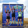 JV girls on podium.  Winner Heidi Kloser, Dominque Fenichell takes 2nd, and Rachel Cutler, earned 3rd.