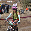 India Waller, JV from Animas High celebrates Halloween while riding to a second place finish.