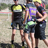 Varsity rider winner Yannick Eckmann, Bouder High School and Zane Godby, 2nd place, Monarch HIgh School are congratulated by Ben Boyer, Boulder High School Coach. Photo Carrie Dittmer.